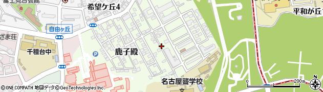 愛知県名古屋市千種区鹿子殿周辺の地図