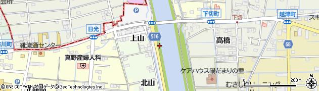 愛知県津島市日光(上江代)周辺の地図