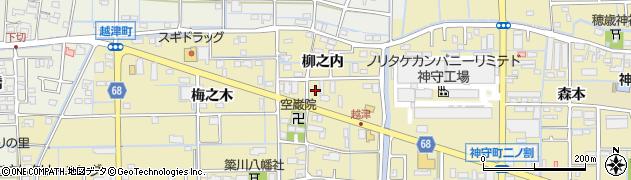 愛知県津島市越津町(柳之内)周辺の地図