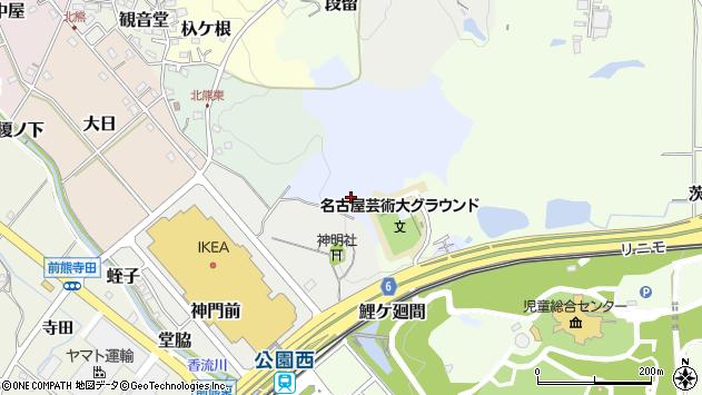 〒480-1331 愛知県長久手市雨堤の地図