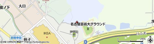 愛知県長久手市雨堤周辺の地図