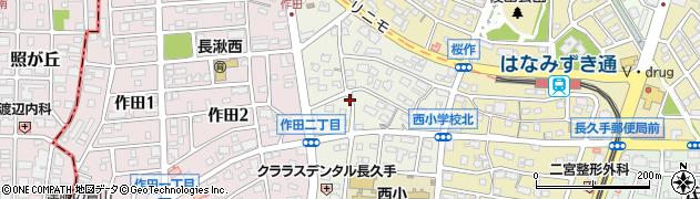 愛知県長久手市打越周辺の地図