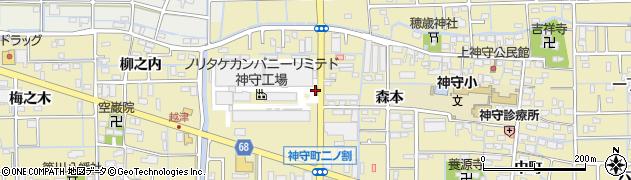 愛知県津島市神守町(二ノ割)周辺の地図