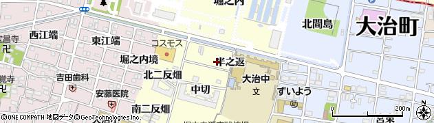 愛知県大治町(海部郡)堀之内(半之返)周辺の地図