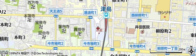 愛知県津島市錦町周辺の地図
