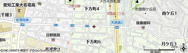 愛知県名古屋市千種区下方町周辺の地図