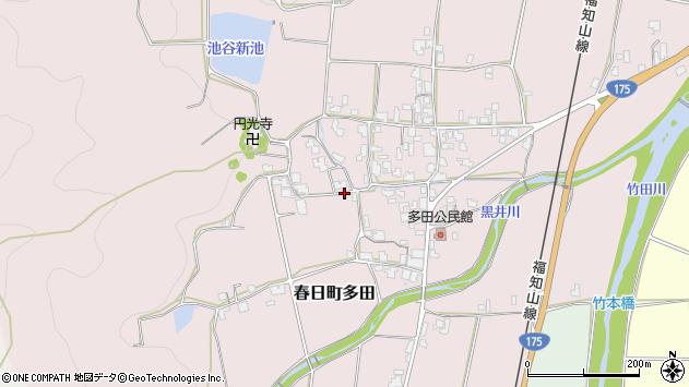 〒669-4125 兵庫県丹波市春日町多田の地図