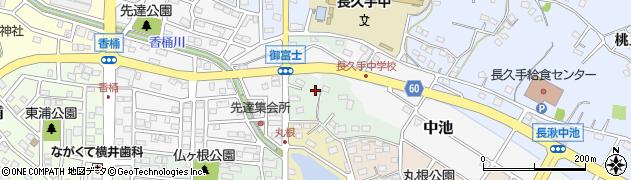 愛知県長久手市下権田周辺の地図