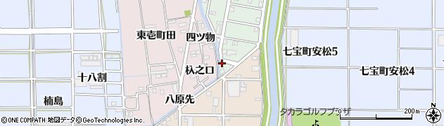 愛知県あま市篠田(八原先)周辺の地図