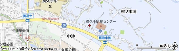 愛知県長久手市岩作(権代)周辺の地図