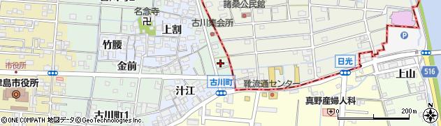 愛知県津島市古川町周辺の地図