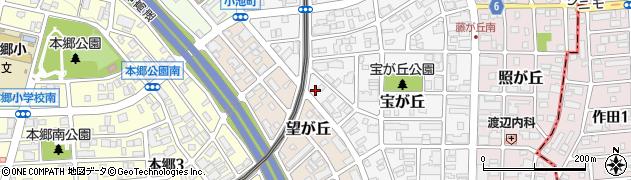 阿閉周辺の地図