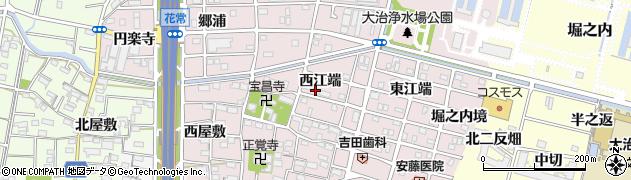 愛知県大治町(海部郡)花常(西江端)周辺の地図