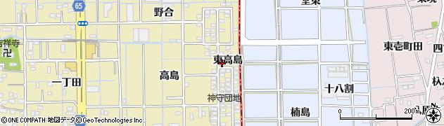 愛知県津島市神守町(東高島)周辺の地図