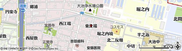 愛知県大治町(海部郡)花常(東江端)周辺の地図