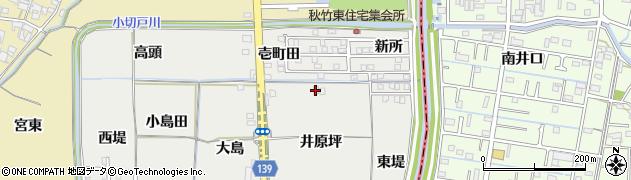 愛知県あま市七宝町秋竹(井原坪)周辺の地図