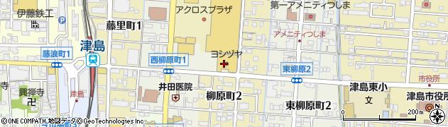 愛知県津島市西柳原町周辺の地図