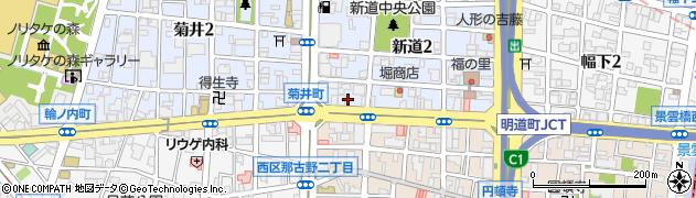 丸万麺類食堂周辺の地図