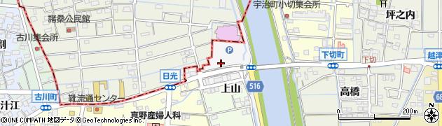 愛知県津島市日光周辺の地図