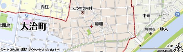愛知県大治町(海部郡)長牧(浦畑)周辺の地図