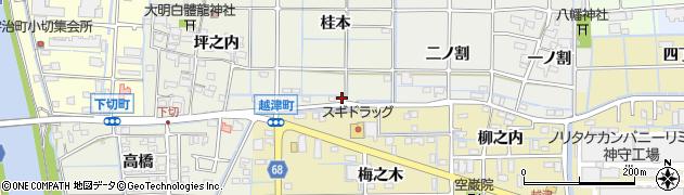 愛知県津島市下切町(桂本)周辺の地図