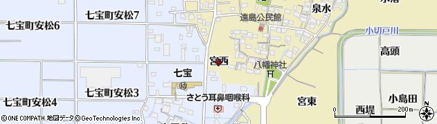 愛知県あま市七宝町遠島(宮西)周辺の地図