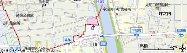 愛知県津島市日光(日光)周辺の地図