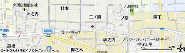 愛知県津島市椿市町(二ノ割)周辺の地図
