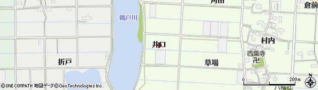 愛知県愛西市四会町(井口)周辺の地図