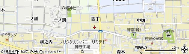 愛知県津島市神守町(四丁)周辺の地図