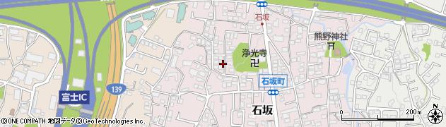 静岡県富士市石坂周辺の地図
