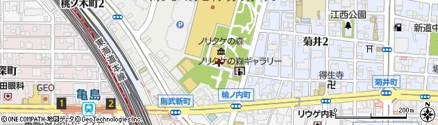 ノリタケの森レストラン キルン婚礼専用周辺の地図