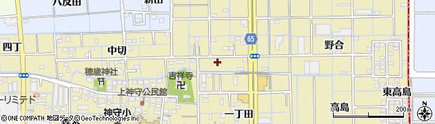 愛知県津島市神守町周辺の地図