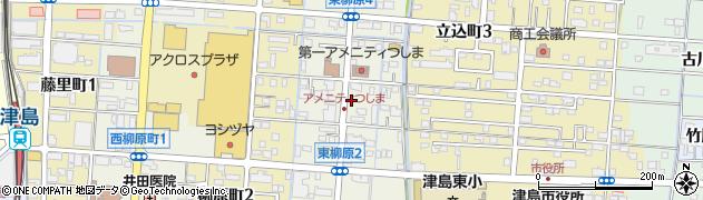 愛知県津島市東柳原町周辺の地図