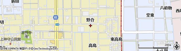 愛知県津島市神守町(野合)周辺の地図
