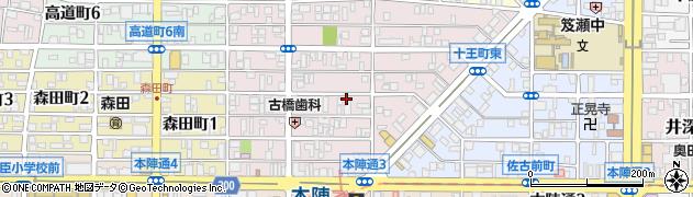 愛知県名古屋市中村区十王町周辺の地図