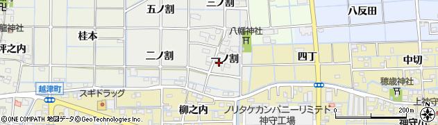 愛知県津島市椿市町(一ノ割)周辺の地図