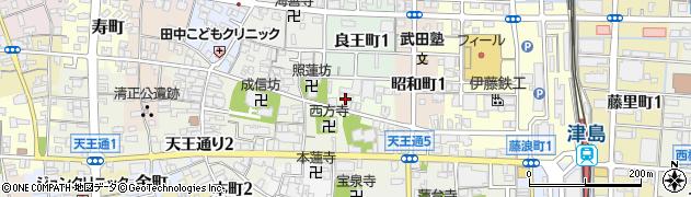 愛知県津島市宝町周辺の地図