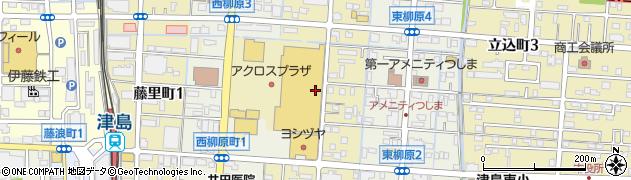 愛知県津島市柳原町周辺の地図