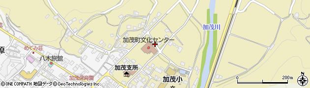 岡山県津山市加茂町塔中周辺の地図