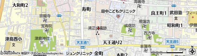 愛知県津島市上河原町周辺の地図