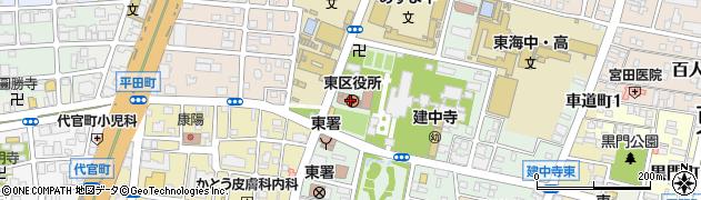 愛知県名古屋市東区周辺の地図