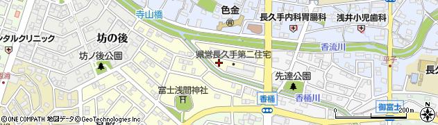 愛知県長久手市富士浦周辺の地図