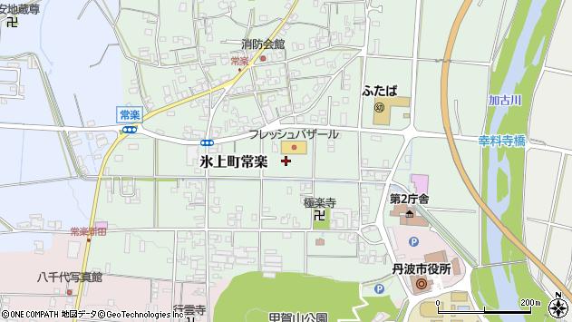 〒669-3602 兵庫県丹波市氷上町常楽の地図