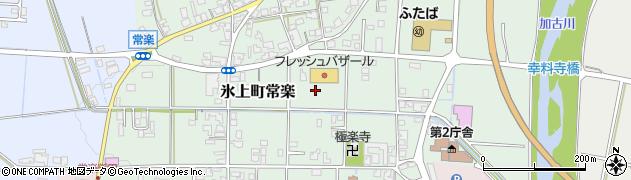 兵庫県丹波市氷上町常楽周辺の地図