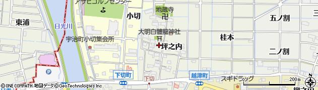 愛知県津島市下切町(坪之内)周辺の地図