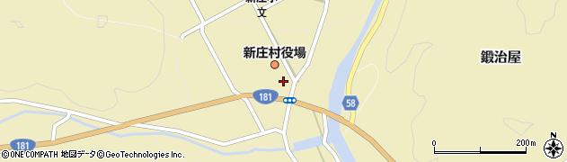 岡山県新庄村(真庭郡)周辺の地図