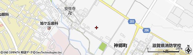 滋賀県東近江市神郷町周辺の地図