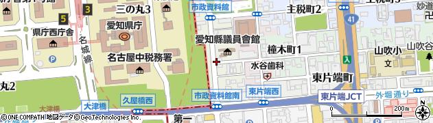 愛知県名古屋市東区東外堀町周辺の地図