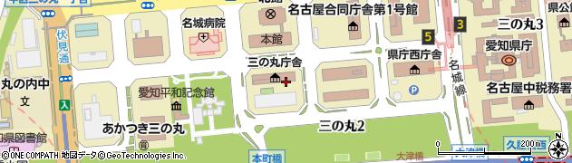 愛知県名古屋市中区三の丸周辺の地図